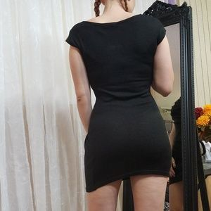 Dresses - Sexy Black Sweater or Sweater Dress